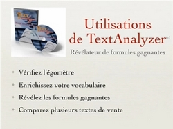 text analizer, video ,mode d'emploi