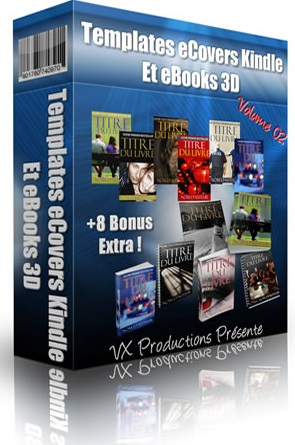 templates ecovers kindle et ebook 3D