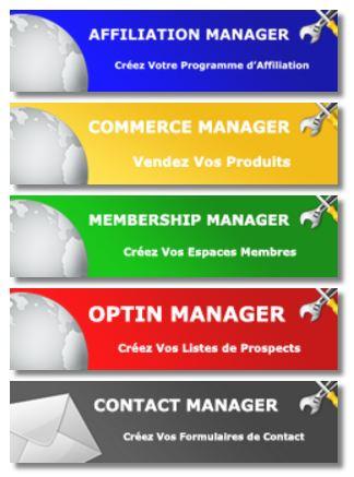 plugin wordpress : manager - affiliation - Membership - Optin Manager - Contact Manager