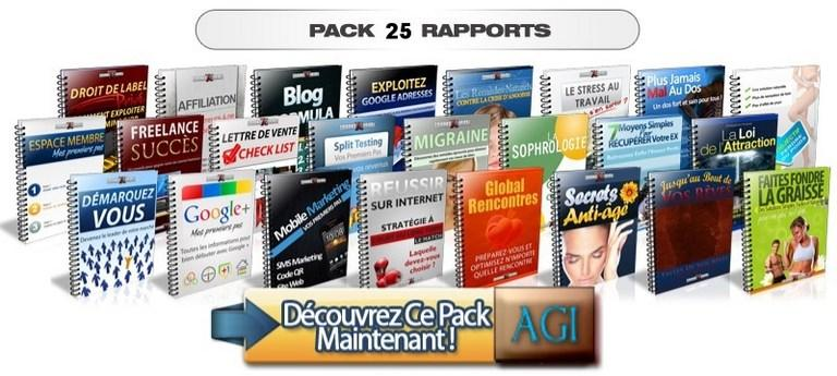 pack 25 rapports DLP