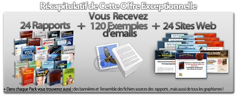 rapports, emails,exemples d'emails,site web