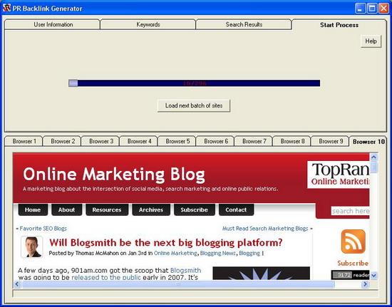 PR Backlinks Générator,indexé et classé Rapidement votre site web